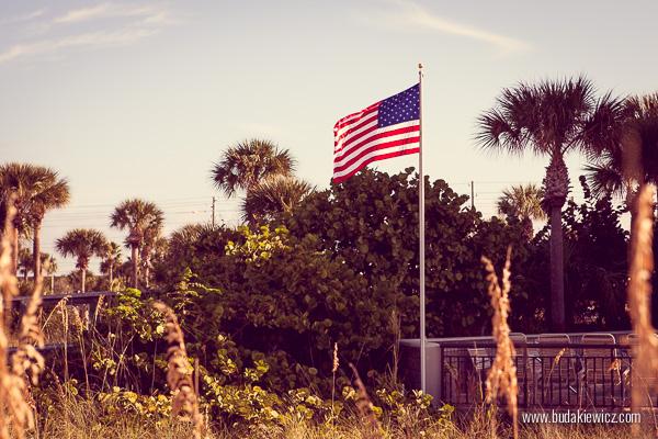 powiewająca flaga usa
