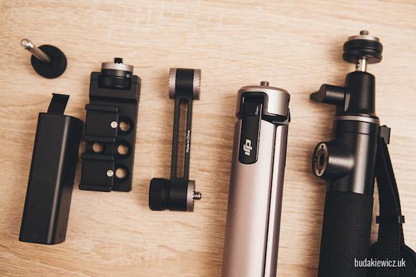 Dodatkowe akcesoria do kamery DJI Osmo: przedłużenie, stawy i dodatkowe ramię