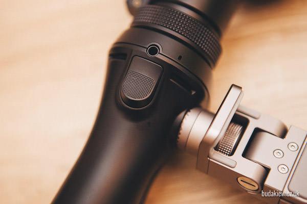 przycisk główny służący do zmiany opcji filmowania
