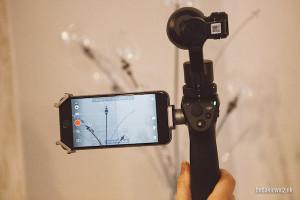 Kamera Osmo w akcji z podlaczonym telefonem